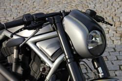 Harley Davidson Cafe Racer Alutank Cockpitverkleidung Frontverkleidung