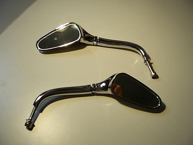 Bikeparts p schl spiegel golfschl ger design chrom 1 for Spiegel unten motorrad